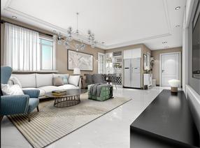 【久栖设计】北京上舍园丨三居室现代简约设计丨自在畅想