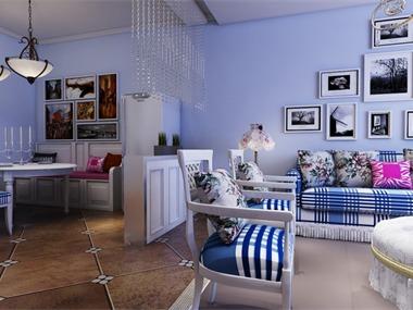 地中海风格一般选择直逼自然的柔和色彩,在组合设计上