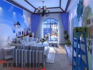 本案体现了地中海风格的明亮、大胆、色彩丰富、简单、