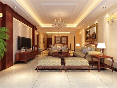 古典欧式风格的特征是强调线形流动的变化,将室内雕刻