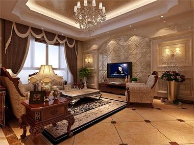 欧式风格装修,古典与现代的结合。