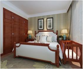 美式卧室壁橱效果图