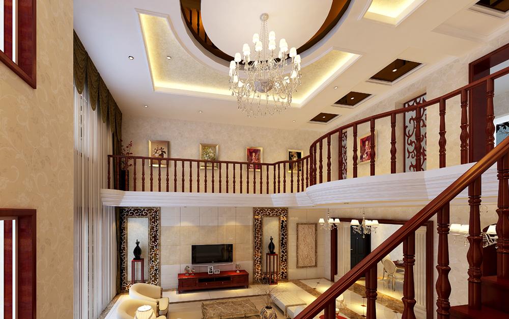 新古典客厅吊顶效果图