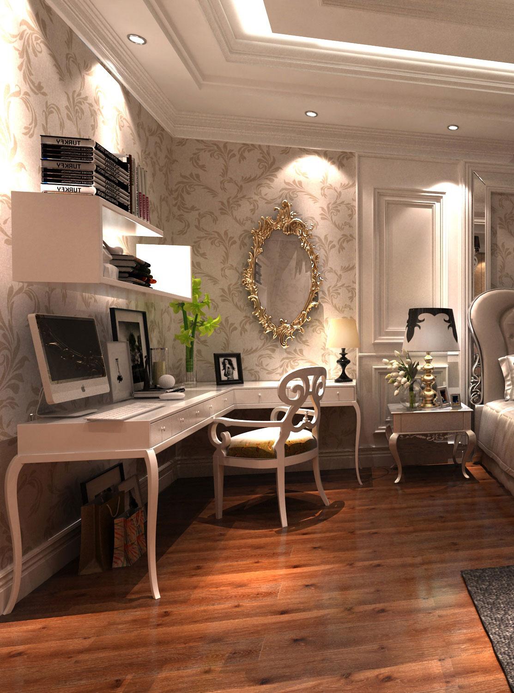 欧式卧室工作区效果图