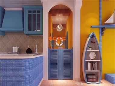 浪漫地中海风格三居室