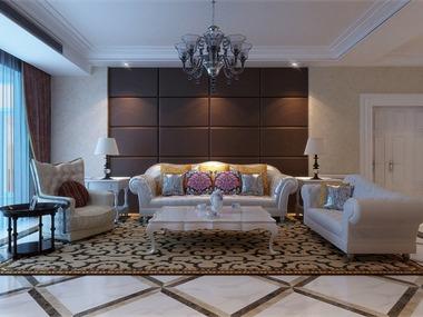 160平欧式风格家装案例图客厅
