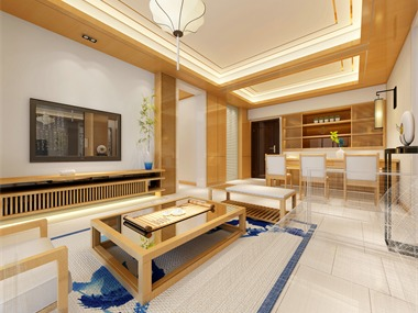 东方新城丨简约中式客厅