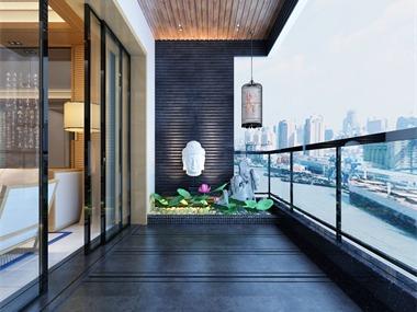 东方新城丨简约中式阳台