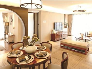 中式客厅隐形门效果图