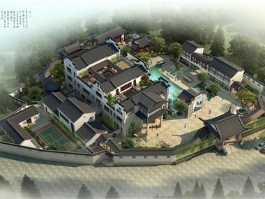 新中式园林平面效果图