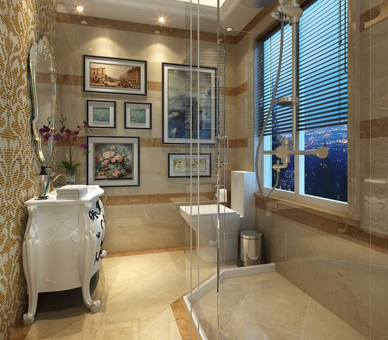 欧式浴室隔断效果图