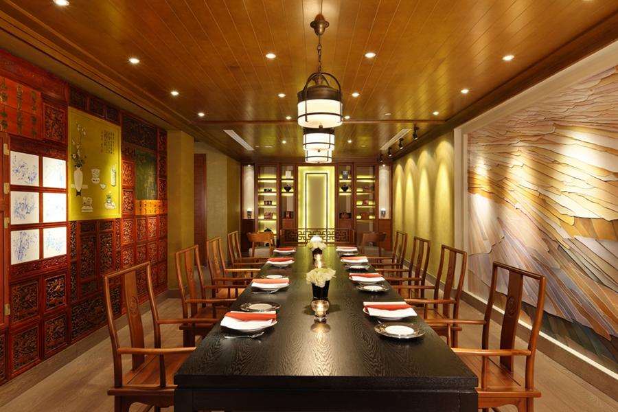 鸿州埃德瑞皇家园林酒店酒店空间餐厅背景墙
