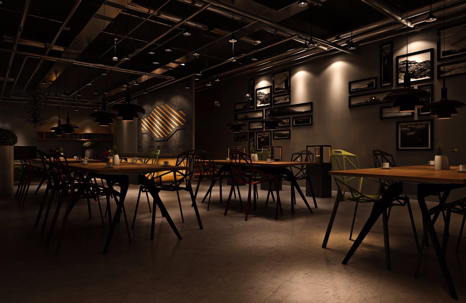 酒吧餐位区效果图