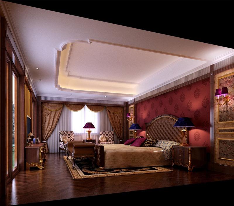 欧式卧室床头软包效果图
