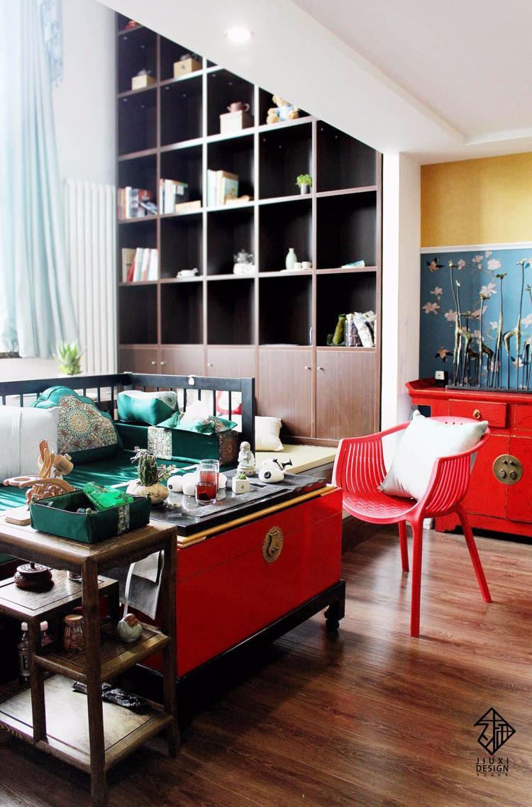 中式客厅榻榻米实景图