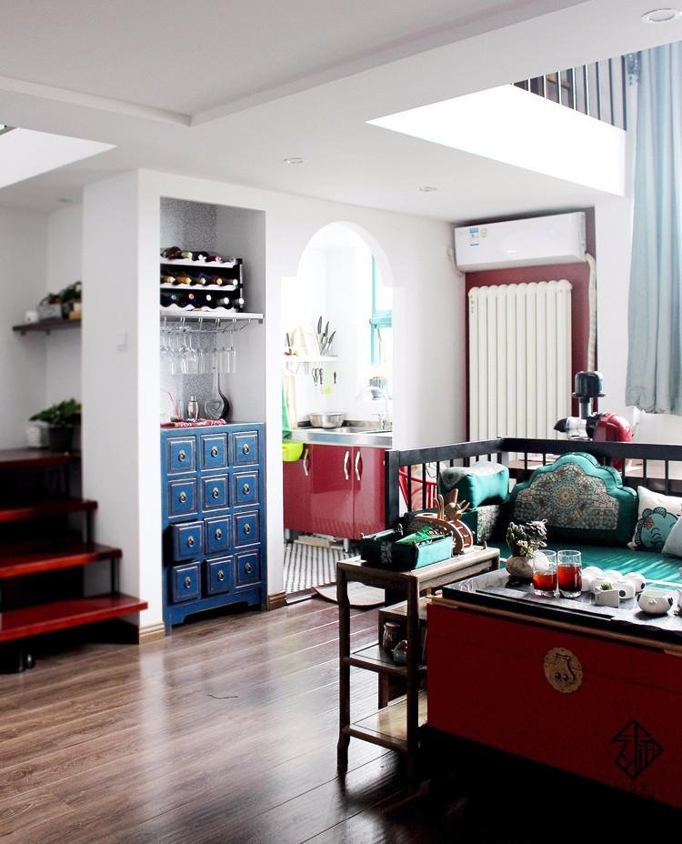 中式客厅吧台实景图