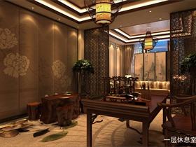 天津新中式会所设计一层效果