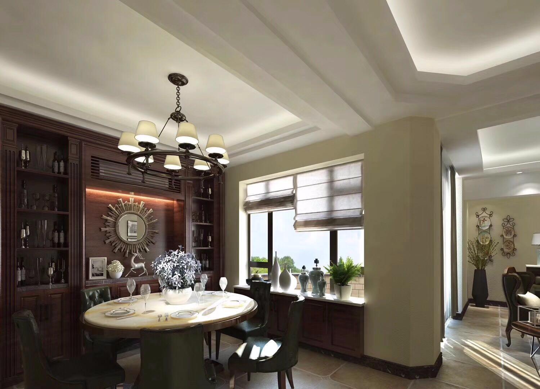 美式餐厅吊顶效果图