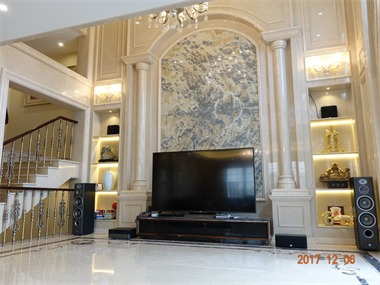 欧式客厅电视背景墙实景图