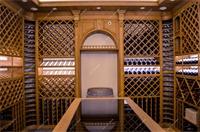 美式酒窖酒柜实景图