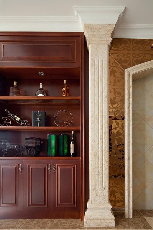 欧式客厅壁橱实景图图片