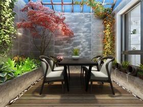 现代花园吊顶效果图