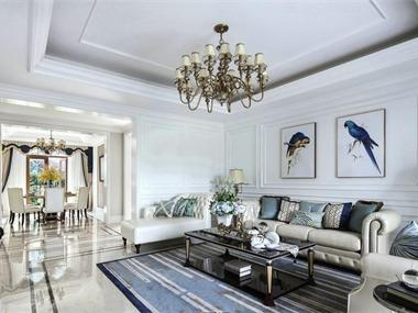 美式客厅吊顶效果图