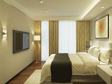 中式臥室背景墻效果圖