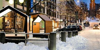 芬兰设计师打造的这套城市家具moksa,照亮了北欧的整个冬季