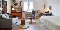 瑞典:北欧复古风的小小公寓