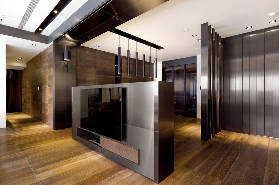 现代客厅隔断效果图