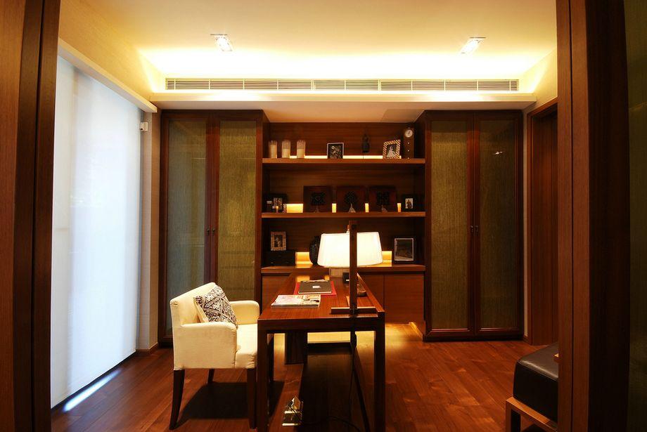 中式书房背景墙效果图
