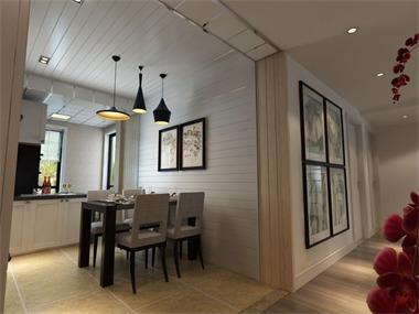 简约餐厅背景墙效果图