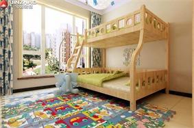 现代儿童房窗户效果图