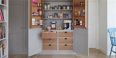 装上这些收纳柜 窄小的厨房也能立马变宽敞