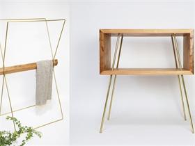 新型金木组装家具,主张回归材料本身