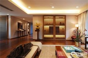 中式客厅壁橱效果图